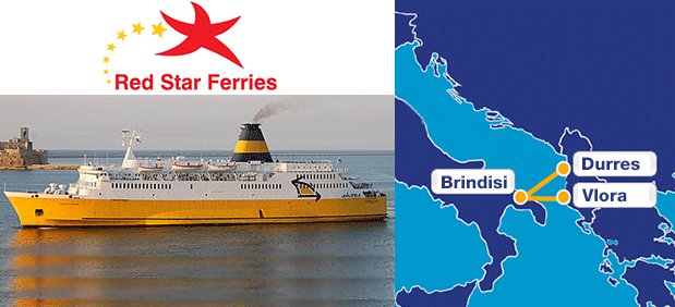 Red Star Ferries, Brindisi - Vlora / Brindisi - Durres
